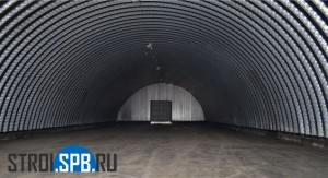 Бескаркасный ангар - строительство складов в СПб