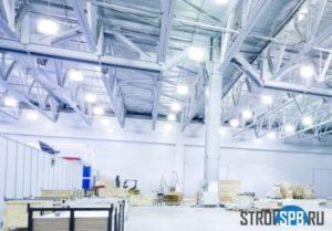 Освещение склада в СПб